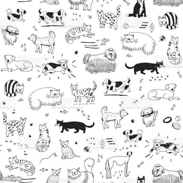 Cats and dogs pattern vector id1140104126?b=1&k=6&m=1140104126&s=612x612&h=8dk11ihgsxudf54simtrfmffs yqhekoh5cfakkl3fi=
