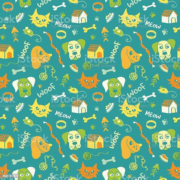 Cats and dogs seamless pattern on turquoise background vector id506197472?b=1&k=6&m=506197472&s=612x612&h=ceojfotpwn5xoq9btappqhullkt02 rdrkmjixlrlfi=