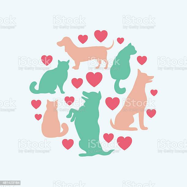 Cats and dogs vector silhouette round composition vector id481423184?b=1&k=6&m=481423184&s=612x612&h=wiabdnymspwxj3r6qpsjy6oirxlaaphrsxxk vnuvmg=