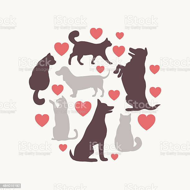 Cats and dogs vector silhouette round composition vector id484015192?b=1&k=6&m=484015192&s=612x612&h=skvwrkcexsk3y4q7rmviyvde1zp7mt07ekktshhl bm=