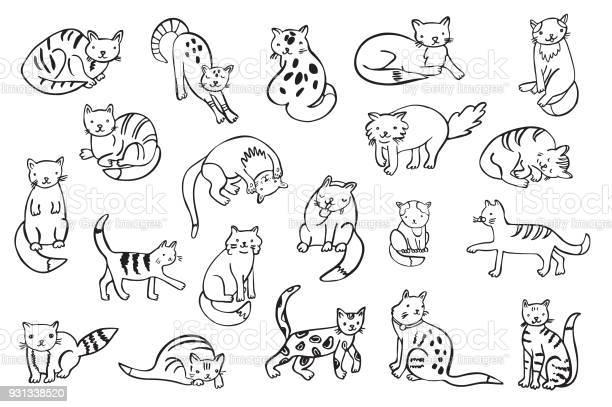 Cats animals vector illustrations set vector id931338520?b=1&k=6&m=931338520&s=612x612&h=de0h1ltdl5fci rebogiusebxdnpwcrqa4anfxhzyqe=
