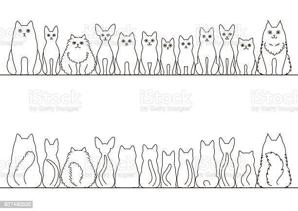 Cats border set front view and rear view line art vector id627460530?b=1&k=6&m=627460530&s=612x612&h=30 vjei5xokhaxm7qo58xpmcbkmr3344 logyoxd4qu=