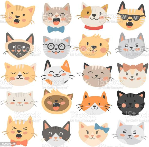 Cats heads emoticons vector vector id626905248?b=1&k=6&m=626905248&s=612x612&h=bquhryibmnud f8v66 c7l0z3 fuajl8uefvs1tuoe0=