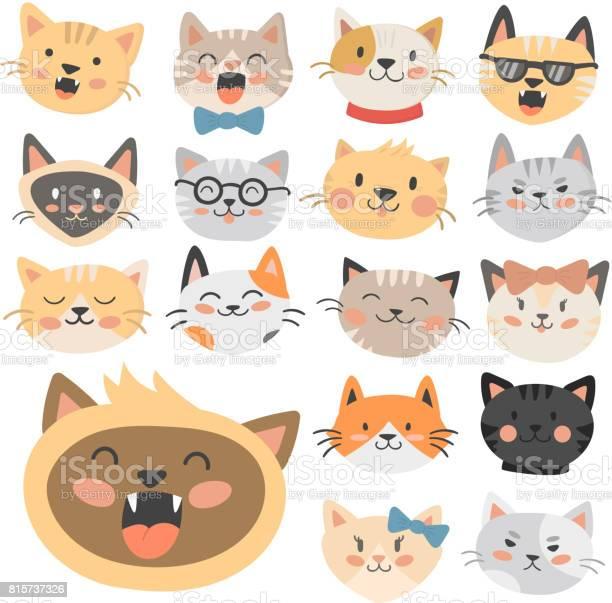 Cats heads vector illustration cute animal funny decorative feline vector id815737326?b=1&k=6&m=815737326&s=612x612&h=j4kdlxirb137b8ehbd xcltjanb4wrnbeezmnmg9wks=