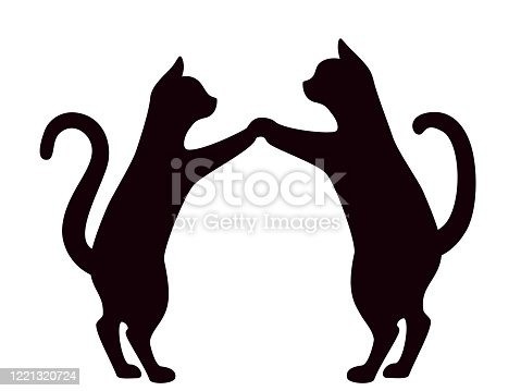 istock Cats in love isolated on white background 1221320724