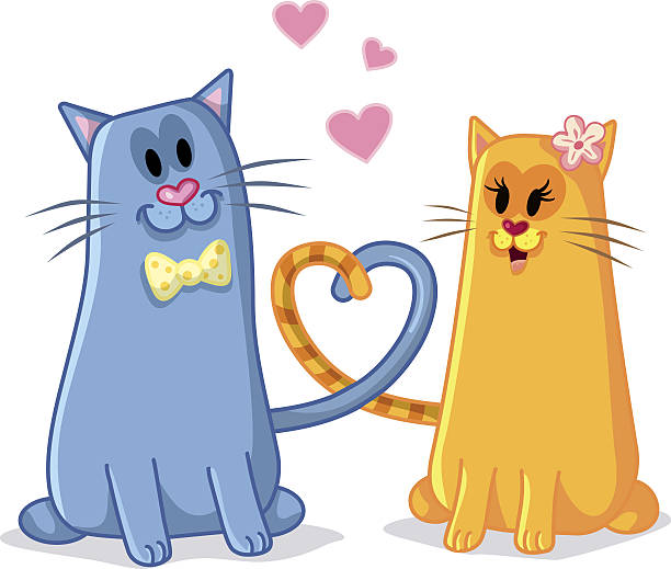 Download Cats In Love Illustrations, Royalty-Free Vector Graphics ...