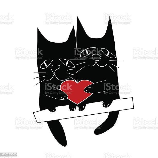 Cats love cartoon vector illustration vector id610225640?b=1&k=6&m=610225640&s=612x612&h=ja1qh5nvnyxadirodclkcqs03jss 1sky6vifha4h6e=