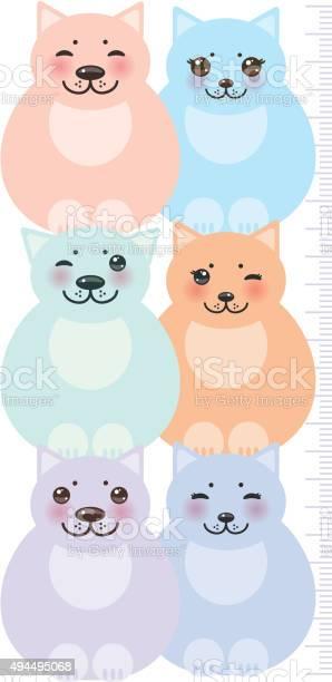 Cats pastel colors children height meter wall sticker kids measure vector id494495068?b=1&k=6&m=494495068&s=612x612&h=mjye90ihwznuukpc2wlzf8bwh3bvp2pfwivx2opzepe=
