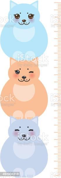 Cats pastel colors children height meter wall sticker kids measure vector id494904318?b=1&k=6&m=494904318&s=612x612&h=rtriut1yvowtdwn0vinti1wgcvm3sb4xcw9rrjjgs0u=