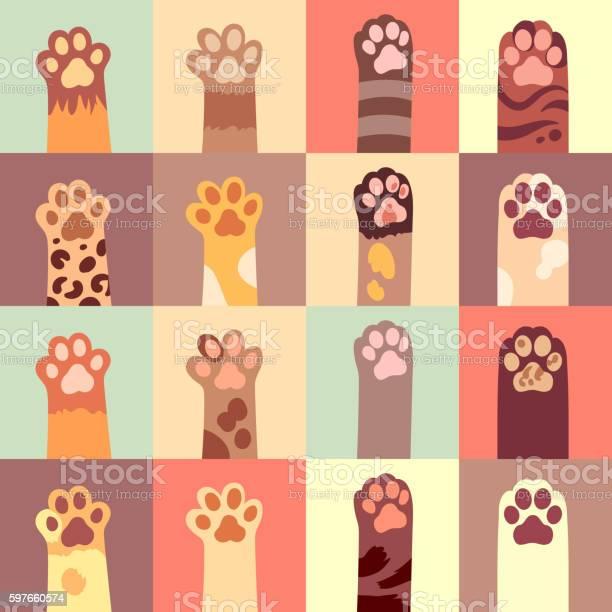 Cats paw vector flat icon set vector id597660574?b=1&k=6&m=597660574&s=612x612&h=pfm7dxrrtwy2wqpug7ugmdvain3q8u8ivgrsvql06ya=