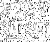 Cats seamless pattern for your design