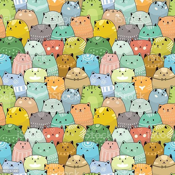 Cats seamless pattern vector id505747400?b=1&k=6&m=505747400&s=612x612&h=6b73ew siys84cg3krr8 nceddpb7wt9vtcqlhcyhqe=