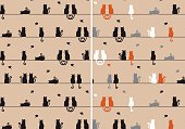 cats seamless pattern, vector
