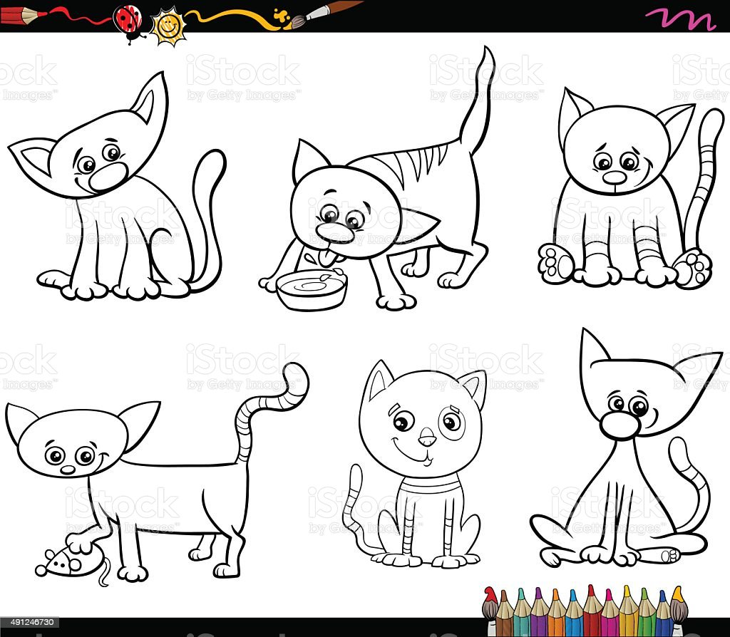 Único Gato Libre Para Colorear Foto - Enmarcado Para Colorear ...