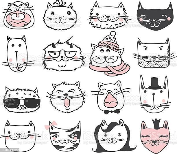 Cats set vector id610241122?b=1&k=6&m=610241122&s=612x612&h=jlfbgypbud1ktj7sofqozs8phnf13hit3sjyd9om7o8=