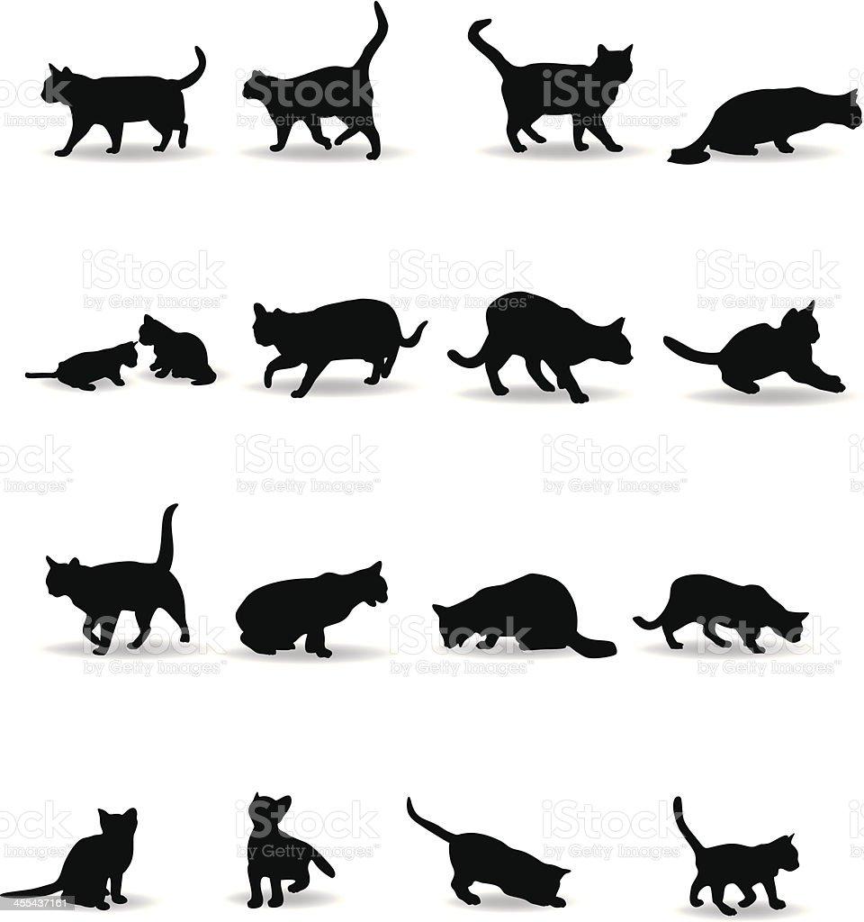 Silhouette de chats galerie tatouage - Tatouage silhouette chat ...