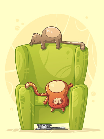 Cats Sleeping on the Sofa