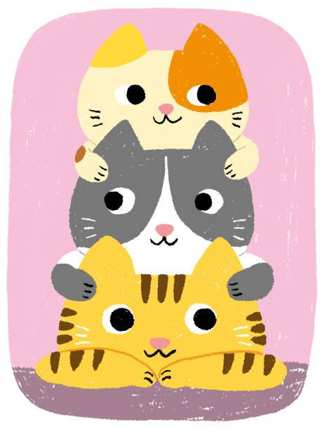cats tower vector art illustration