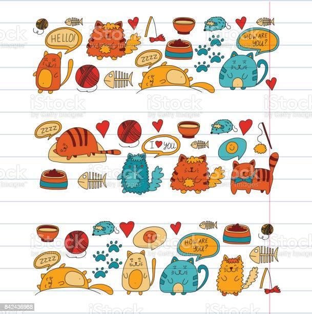 Cats vector domestic cute kawaii kittens japanese kawaii style cats vector id842436988?b=1&k=6&m=842436988&s=612x612&h=fe2phnrtv sxoeghdo ezjqd1j0qdw6az0ohw k8xke=