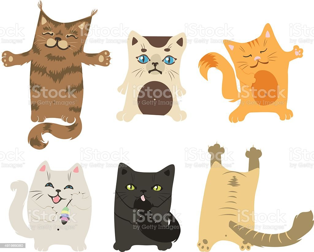 cats vector art illustration