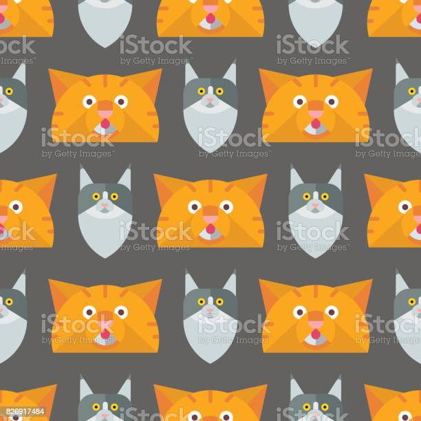 Cats vector illustration cute animal seamless pattern funny kitty vector id826917484?b=1&k=6&m=826917484&s=612x612&h=yesiyhbe snq6b9oohe6mbi50t8lfiwrajz1oui4tga=