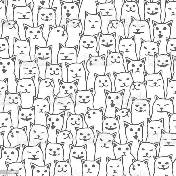 Cats vector seamless pattern white vector id617884058?b=1&k=6&m=617884058&s=612x612&h=wrubtjq8vofpojmqryxbb bocohztdvbexcj6bqqj o=