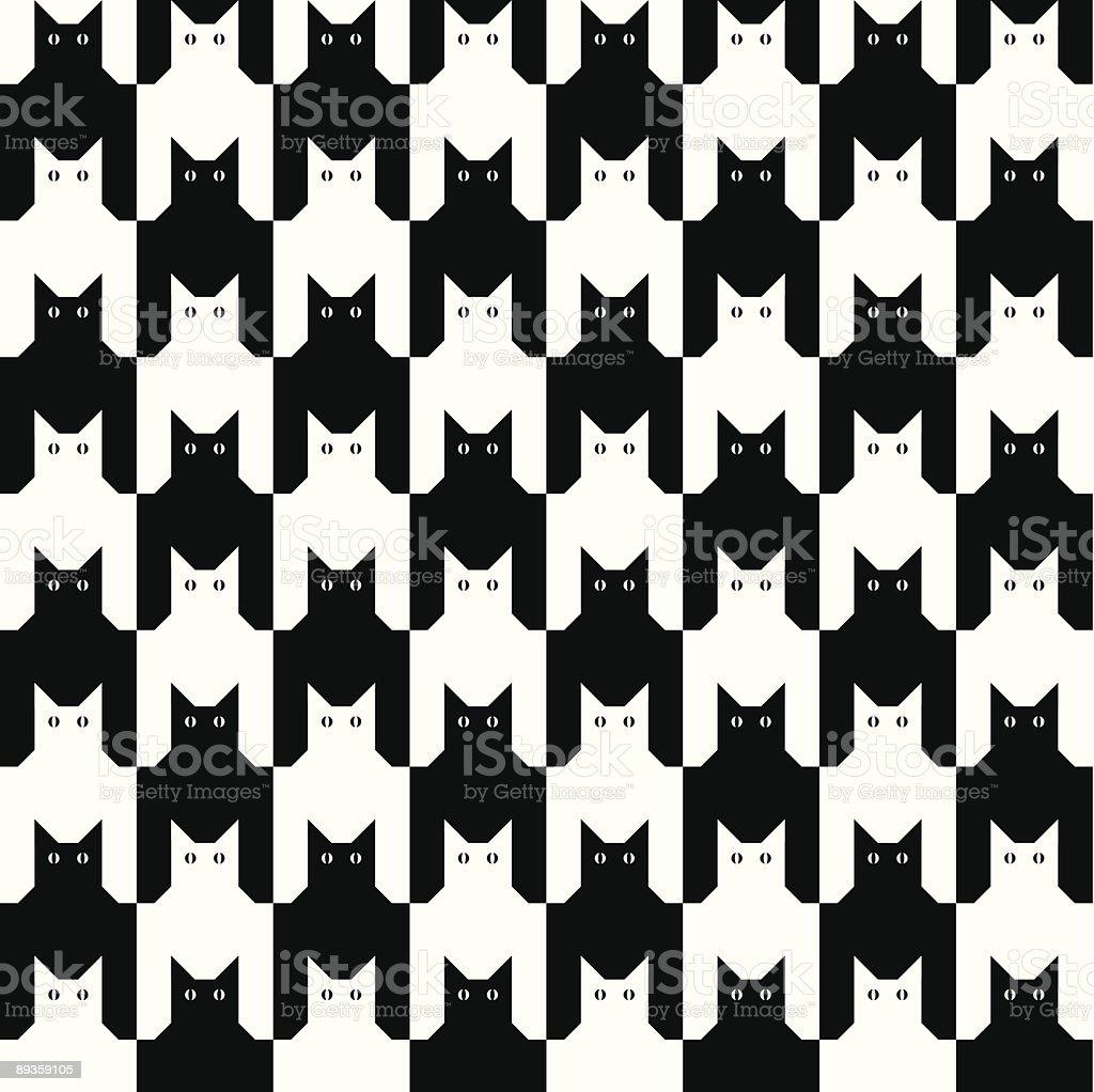 CatsTooth Pattern royalty free catstooth pattern stockvectorkunst en meer beelden van achtergrond - thema