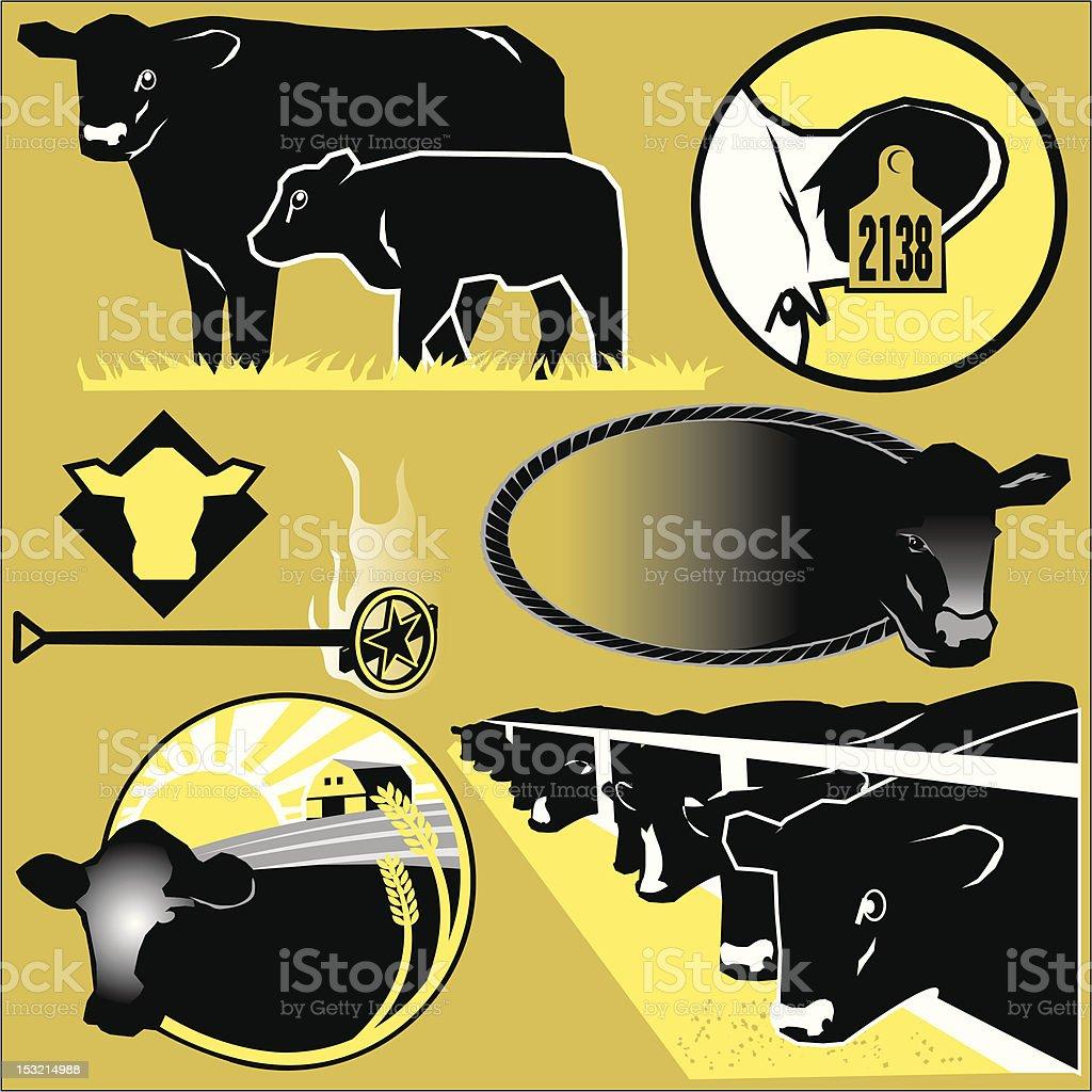 Cattle Clip Art vector art illustration