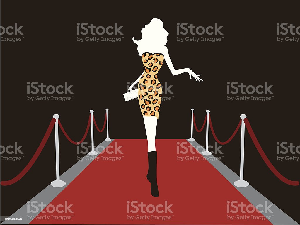 catwalk vector art illustration
