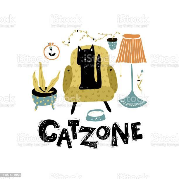 Catzone vector poster postcard with a black cat in the scandinavian vector id1187421553?b=1&k=6&m=1187421553&s=612x612&h=jx4qegrtzwbilchmavwi5gdiaidkl 5cqwzg6b5ipmc=