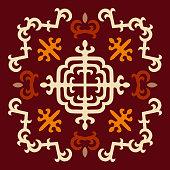 Caucasian ornament symbol