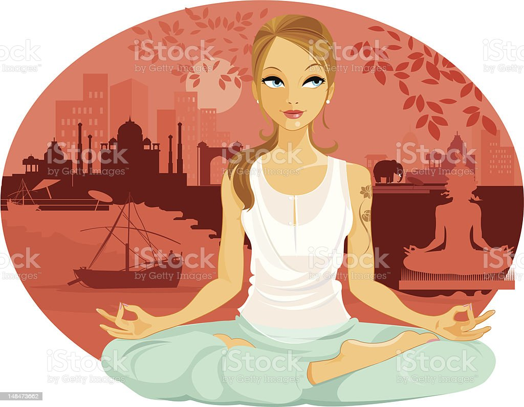 Caucasian Tourist in India royalty-free caucasian tourist in india stock vector art & more images of adult