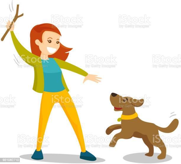 Caucasian white woman training dog with stick vector id931082710?b=1&k=6&m=931082710&s=612x612&h=opyirbhenqsr3g6sh7mgbynxxqwqzk7rcpbc7m4la2e=