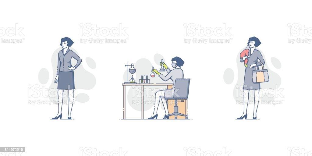 Ensemble femme caucasien - Illustration vectorielle