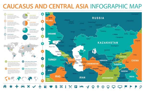 Royalty Free Kazakhstan Map Clip Art, Vector Images & Illustrations