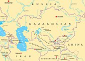 Caucasus and Central Asia Political Map