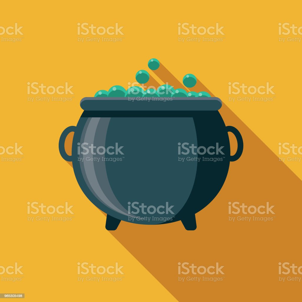 Cauldron Flat Design Fantasy Icon royalty-free cauldron flat design fantasy icon stock vector art & more images of adventure