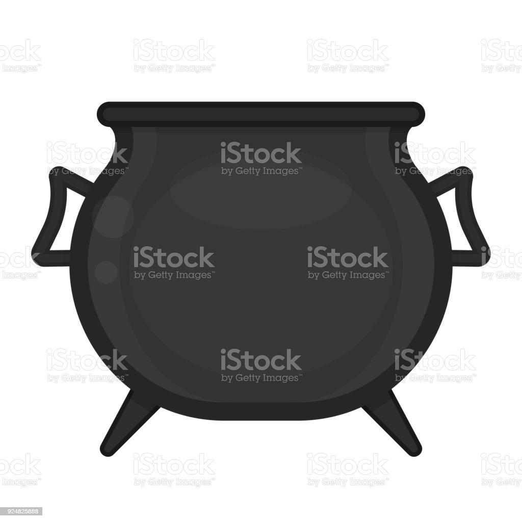 Cauldron isolated on white vector art illustration