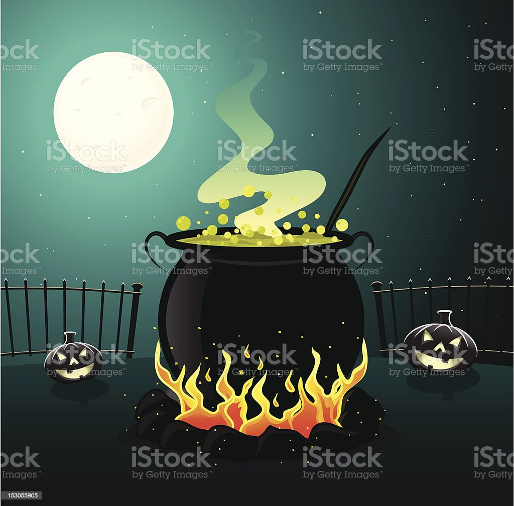 Cauldron vector art illustration