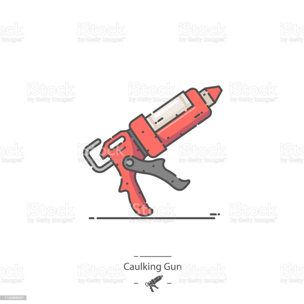 Caulking Gun Stock Vector Art & More Images of Caulk Gun