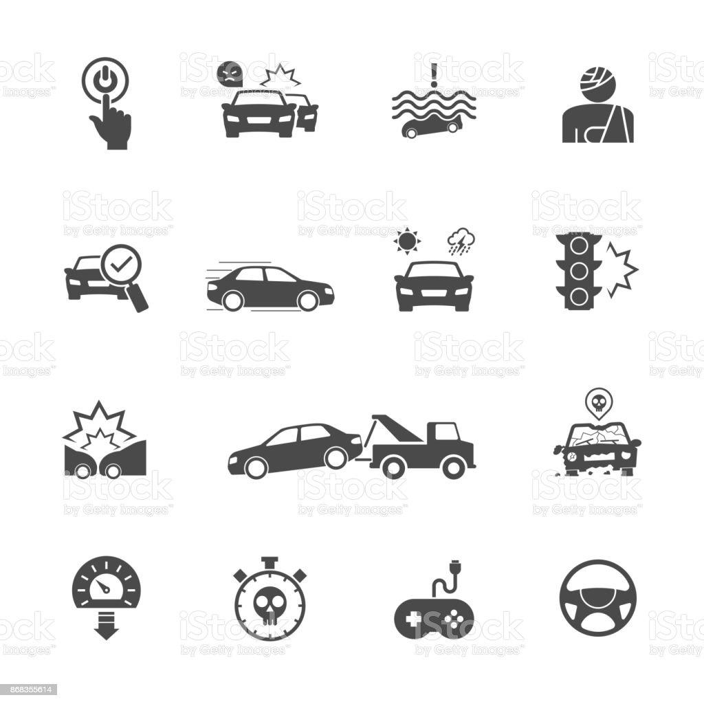 Ilustración de Causas De Los Accidentes De Coche Empezar A Pensar ...