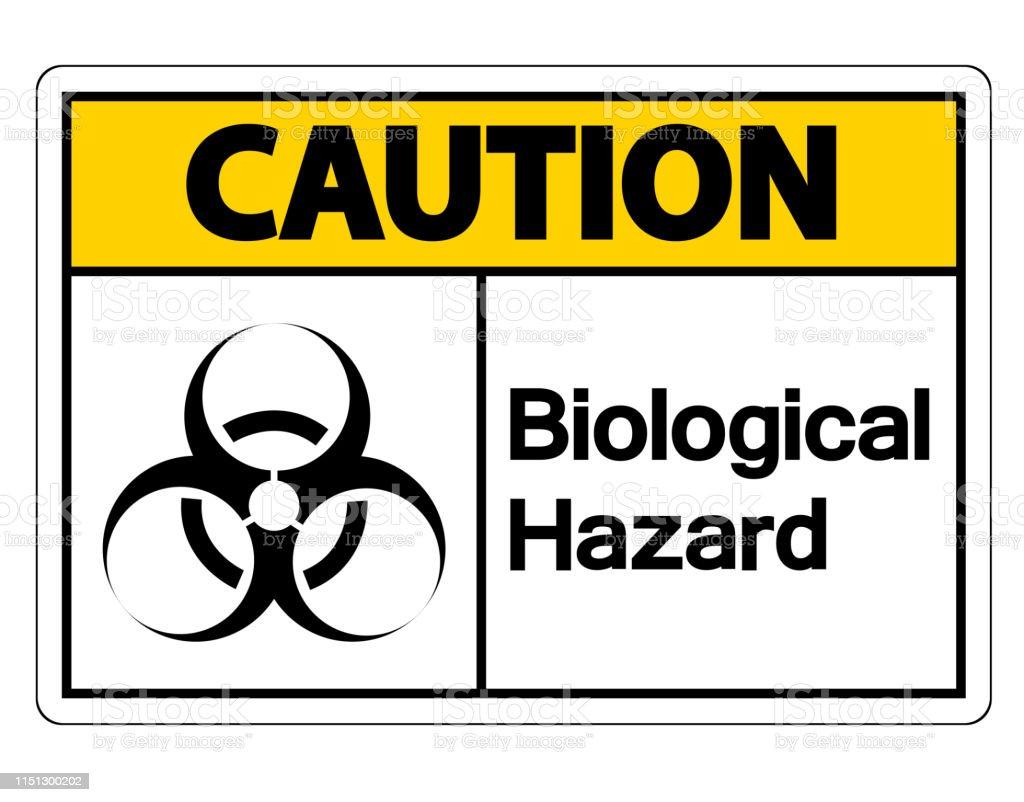 Caution Biological Hazard Symbol Sign On White Background Stock  Illustration - Download Image Now - iStock