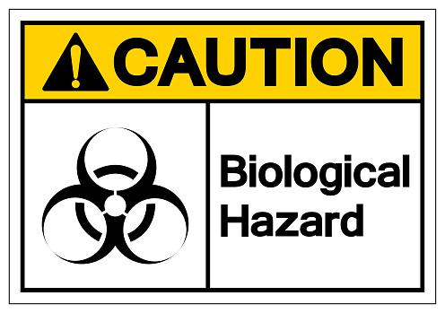 Caution Biological Hazard Symbol Sign, Vector Illustration, Isolate On White Background Label. EPS10