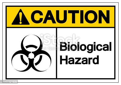 Caution Biological Hazard Symbol Sign, Vector Illustration, Isolate On White Background Label. EPS10