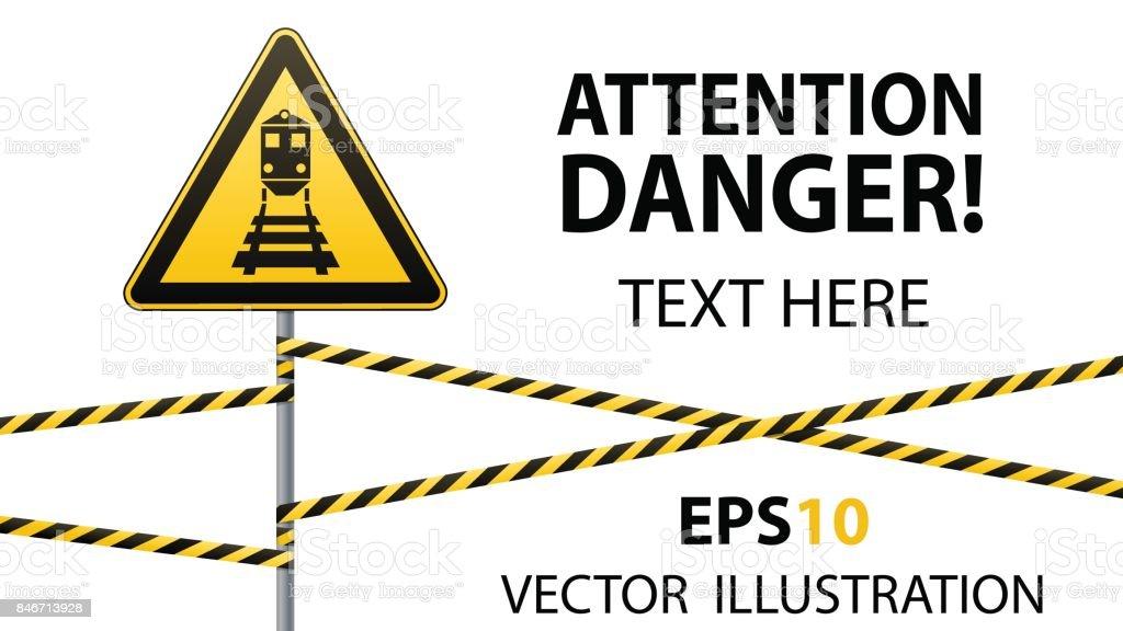 Ilustración de Atención Peligro Seguridad Señal De Advertencia ...