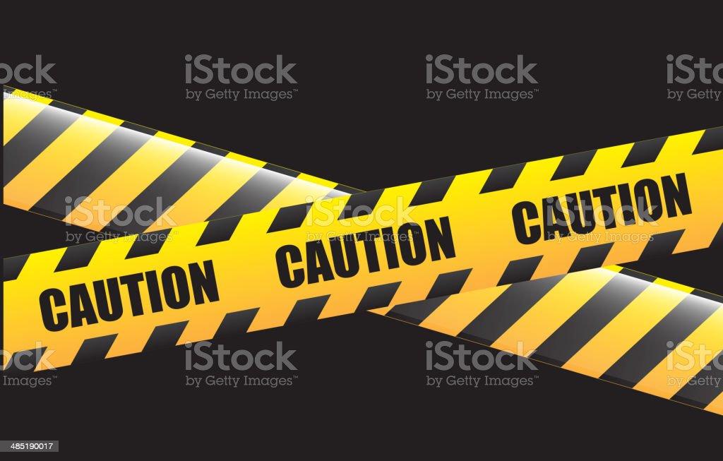 caution design vector art illustration