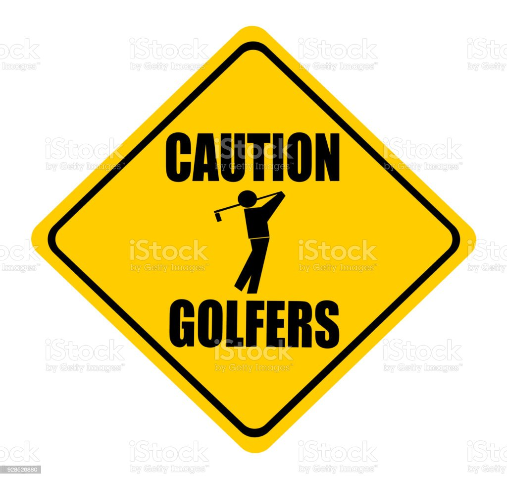 Achtung Golfer Stock Vektor Art Und Mehr Bilder Von Clipart