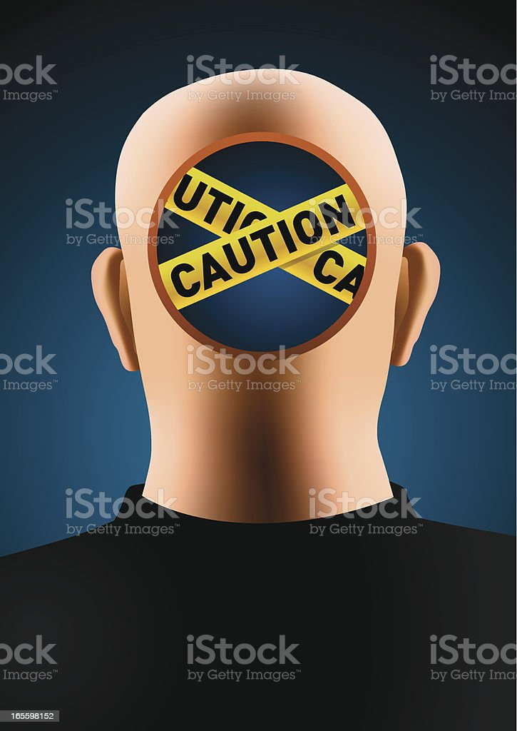 Caution head royalty-free caution head stock vector art & more images of adult