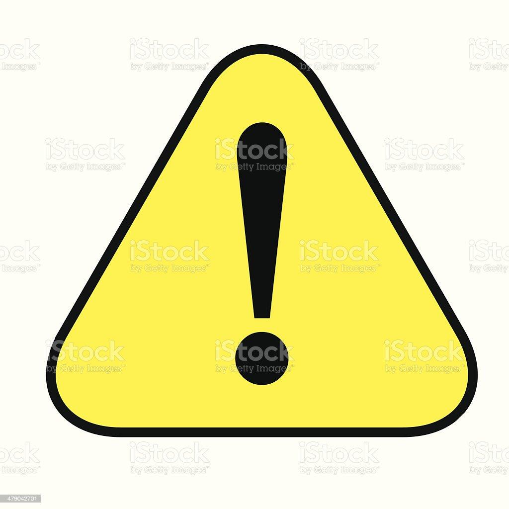 Caution icon- vector vector art illustration