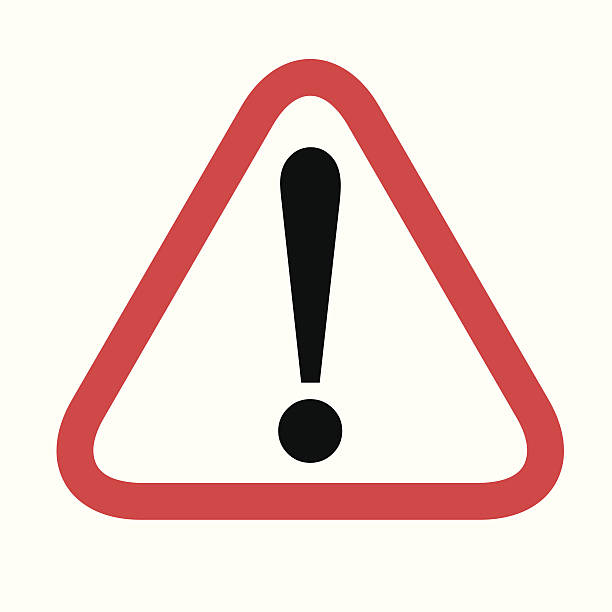 caution icon- vector - attention stock illustrations, clip art, cartoons, & icons